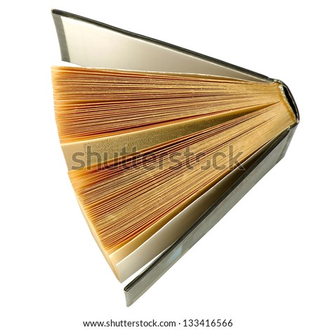 isolated image of the book on a white background