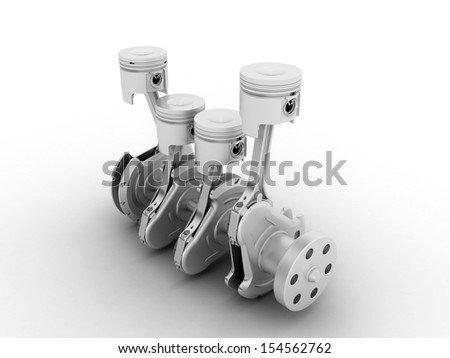 isolated image of the complex fantastic machine with gears, levers, pipes, meters, production line  - stock photo