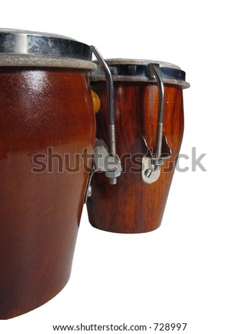 Isolated indian drums - stock photo