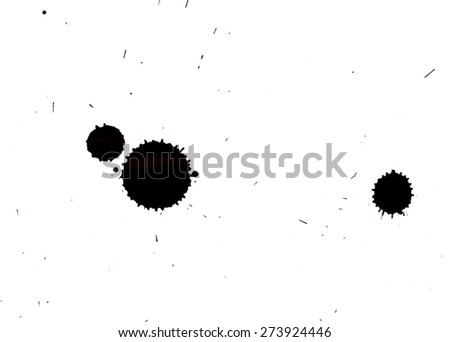 isolated ink jet bobs - stock photo