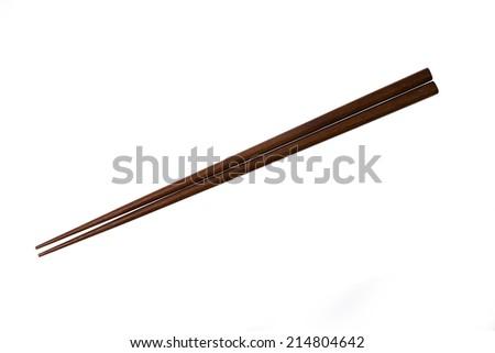 Isolated Japanese wood Chopstick - stock photo