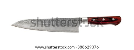 isolated knife on white background  - stock photo