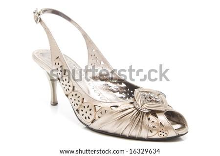 Isolated lady shoe - stock photo