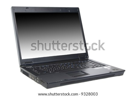 Isolated laptop on white