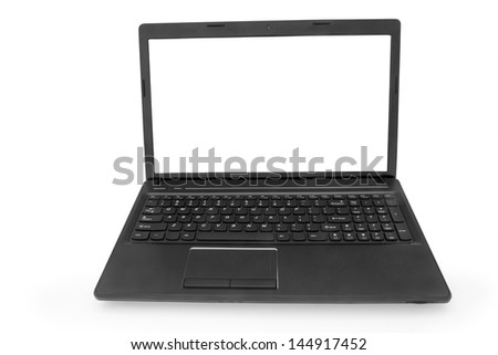 isolated  laptop with a white monitor on a white background