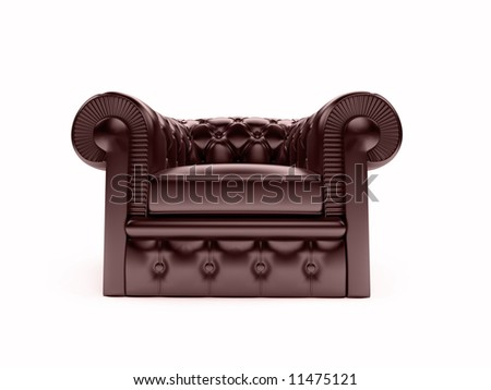 isolated leather armchair