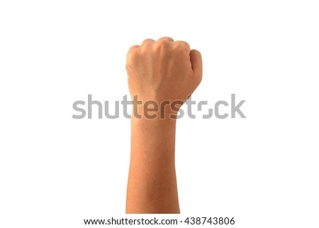 isolated left side Man fist  - stock photo