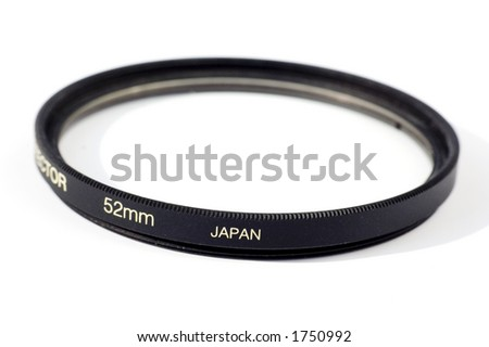 Isolated lens filter