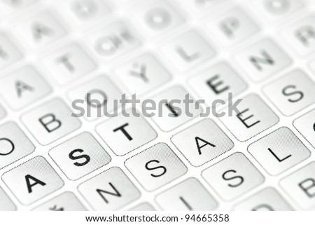 Isolated letters, important information is encoded