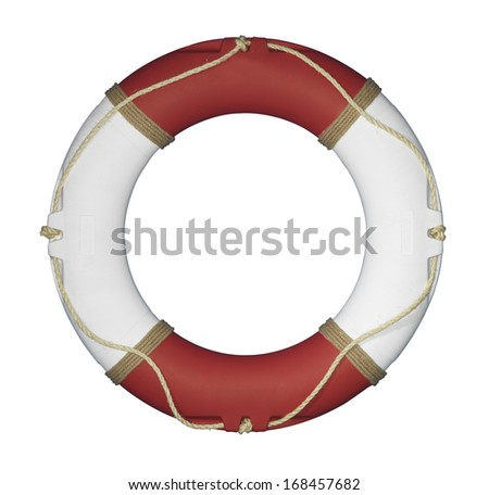 Isolated Life Ring - stock photo