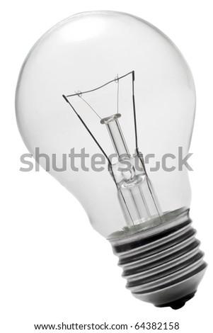 isolated light bulb on white background - stock photo