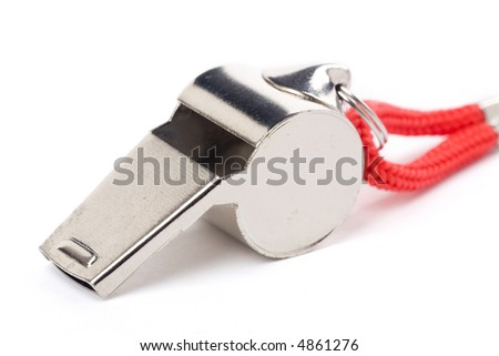 isolated metal Whistle, sport concept - stock photo