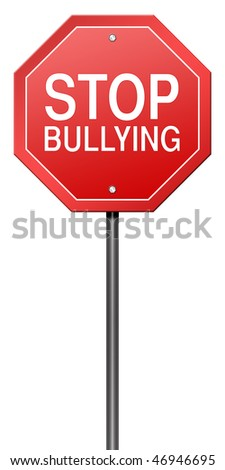 Isolated Metaphor Sign with Stop Bullying - stock photo