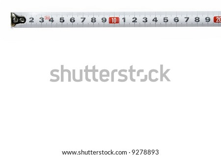 Isolated meter on white background with lot of space for designers - stock photo