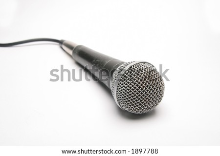 Isolated Microphone with cord showing