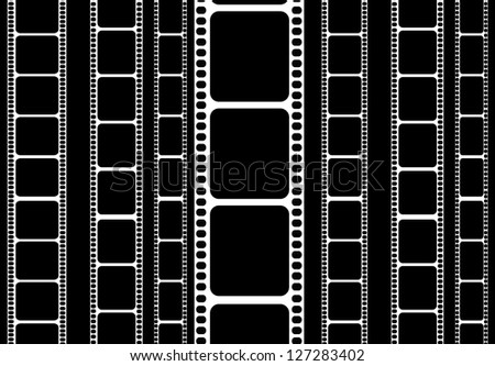 isolated 35 mm film strip - stock photo