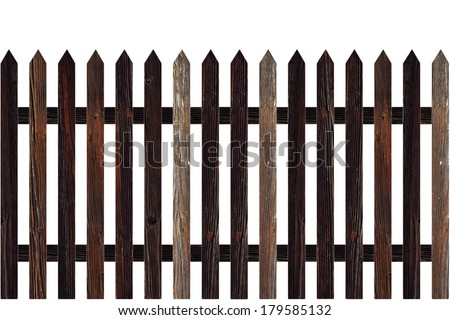 isolated model of wooden  fence for your design - stock photo