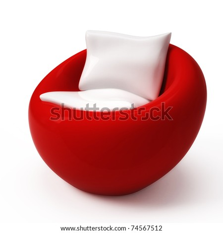 Isolated modern furniture on white background - stock photo