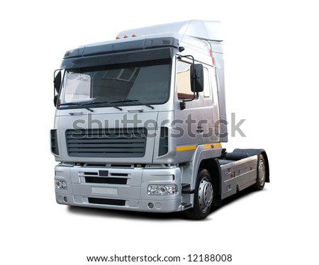 Isolated Modern Truck Without any Trailer or Wagon