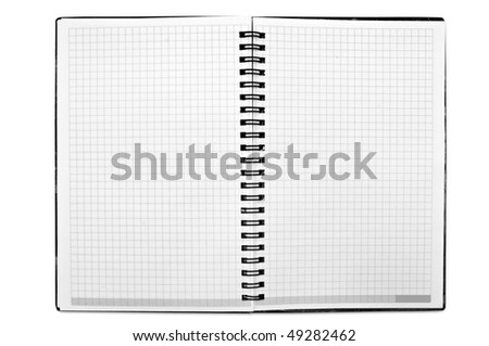 isolated notebook on a white background