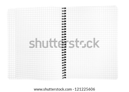 isolated notebook on white