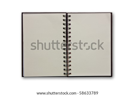 isolated notebook on white - stock photo