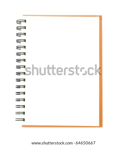 isolated notebook on white. - stock photo