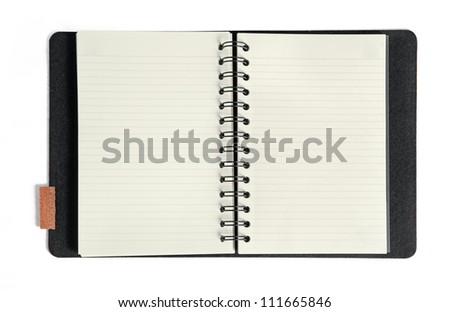 isolated notebook on white background - stock photo