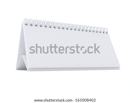 Isolated notes pad