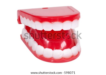 Isolated Novelty Teeth
