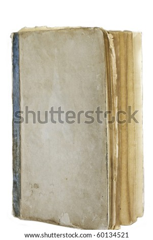 isolated Old vintage book - stock photo