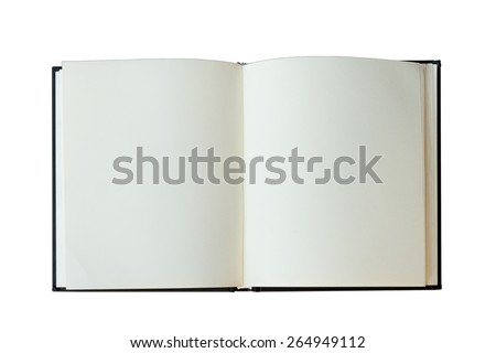isolated open book on white backgfound - stock photo