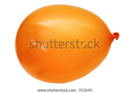 isolated orange balloon