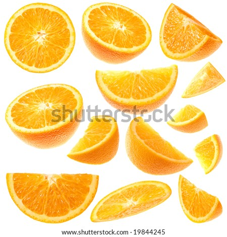 Isolated orange collection - stock photo