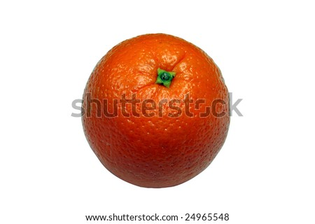 Isolated orange on white background