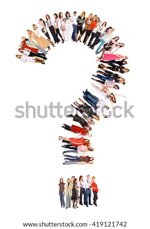 Isolated over White Teamwork or Not  - stock photo