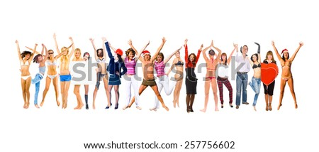 Isolated over White Together we Celebrate  - stock photo