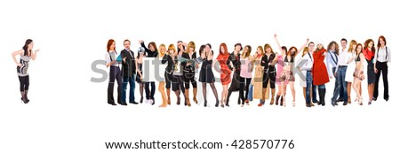 Isolated over White Together we Stand  - stock photo