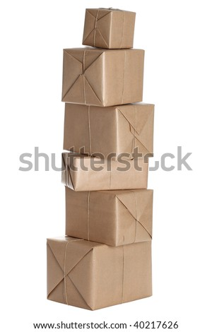 Isolated Parcels - stock photo