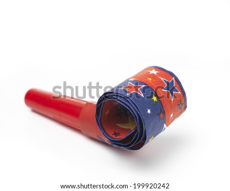 Isolated Party Horn Blower - stock photo