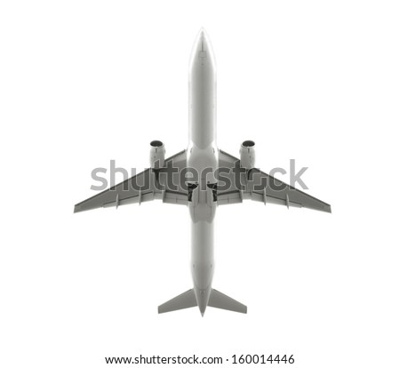 Isolated passenger aircrafts - stock photo