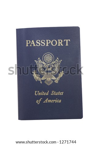 Isolated passport(with clipping path)
