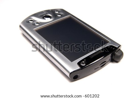 Isolated PDA - stock photo