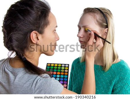 Isolated photo of making yellow make up