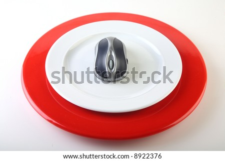 isolated plate with mouse