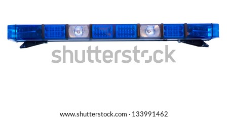 isolated police emergency light roof bar - stock photo