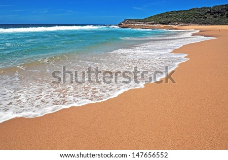 Isolated Pristine Beach, NSW Australia - stock photo