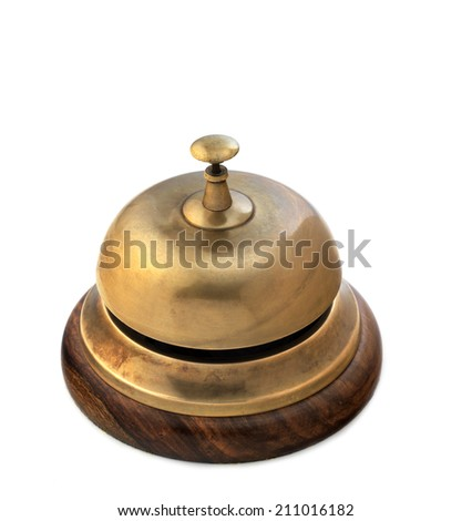 Isolated reception bell - stock photo