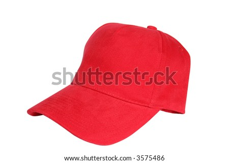 Isolated red cap - stock photo