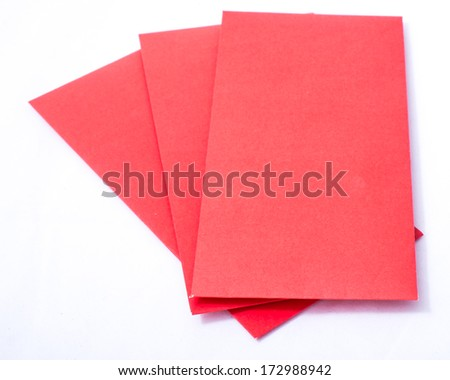 Isolated red Chinese pockets - stock photo
